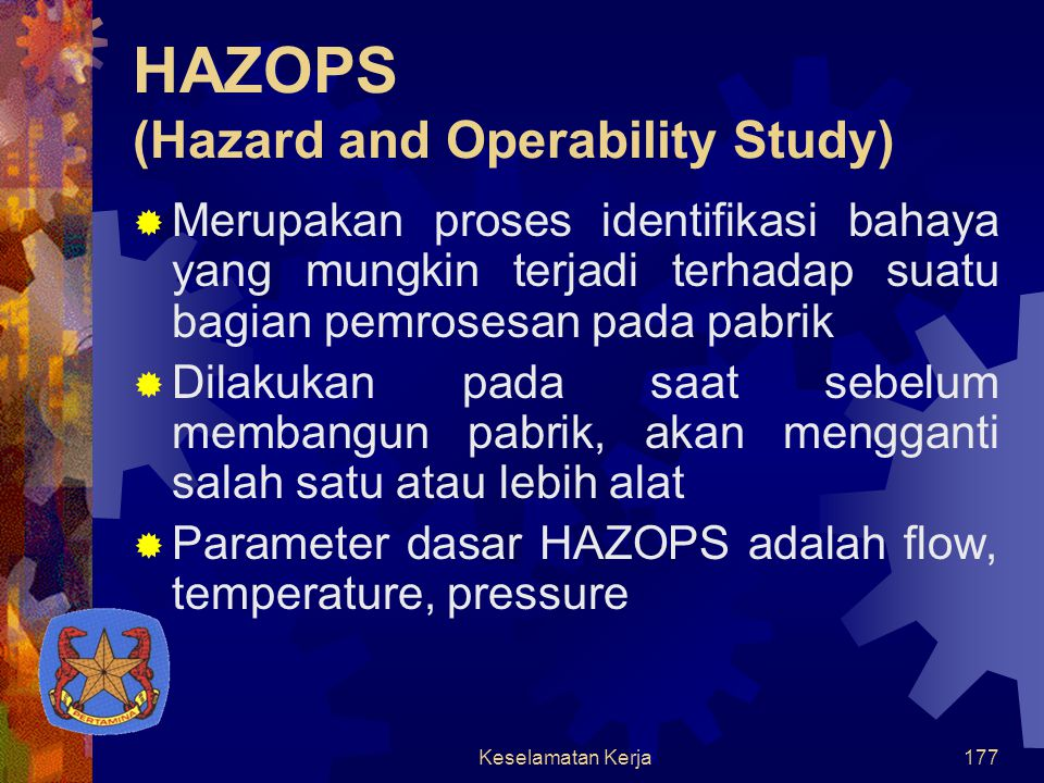 HAZOPS (Hazard and Operability Study)