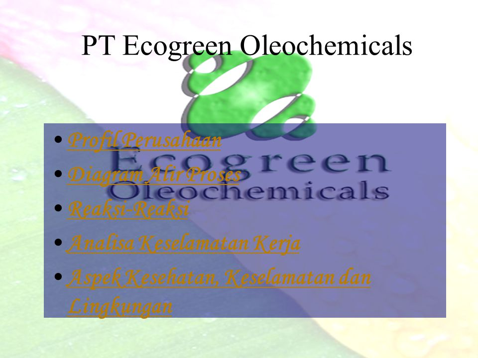 PT Ecogreen Oleochemical