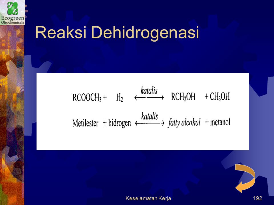 Reaksi Dehidrogenasi Keselamatan Kerja