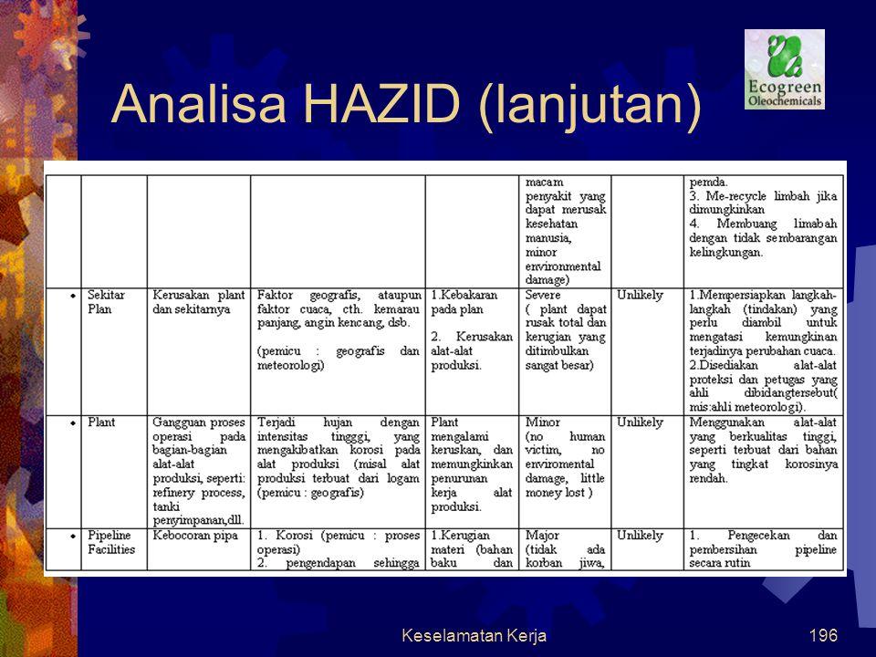 Analisa HAZID (lanjutan)