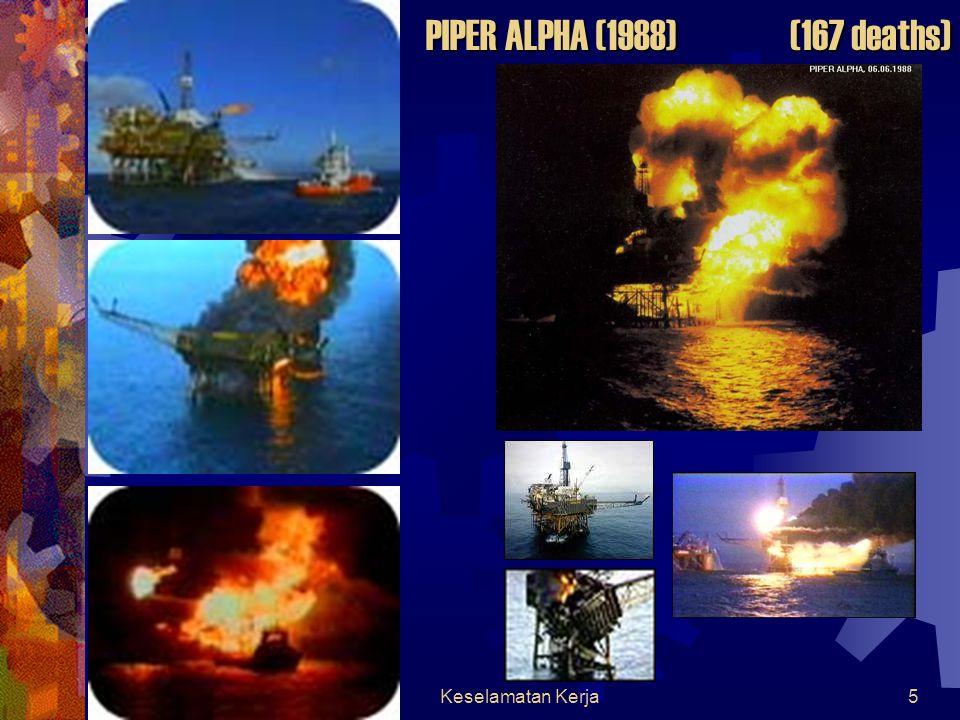 PIPER ALPHA (1988) (167 deaths) Keselamatan Kerja