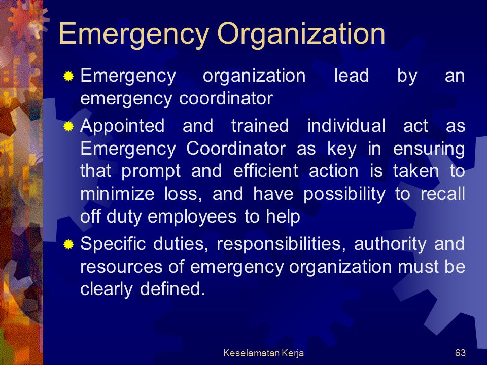 Emergency Organization