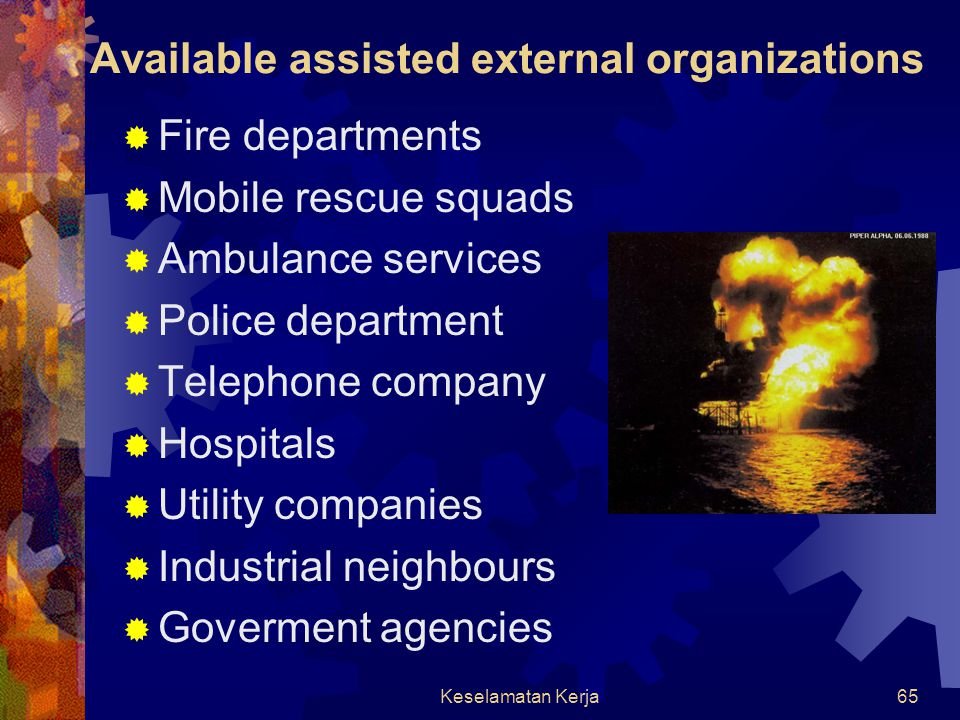 Available assisted external organizations