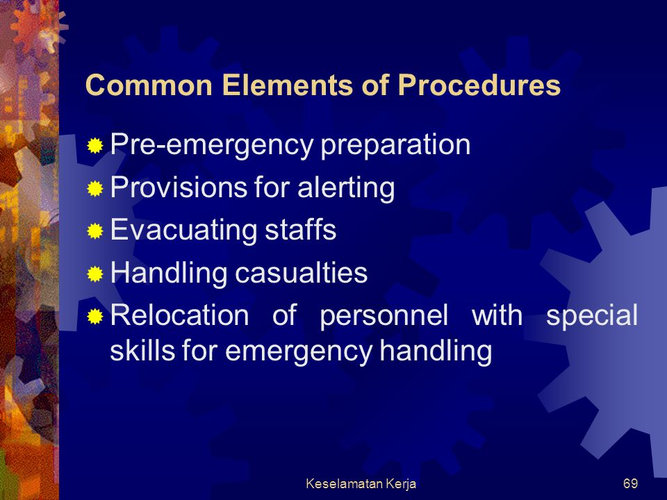 Common Elements of Procedures