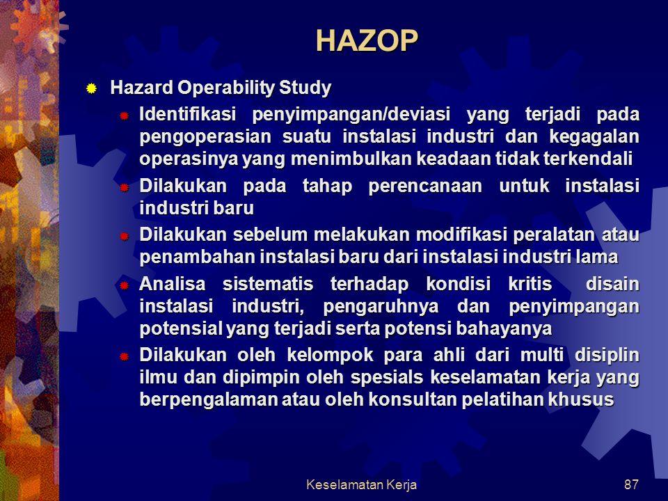 HAZOP Hazard Operability Study