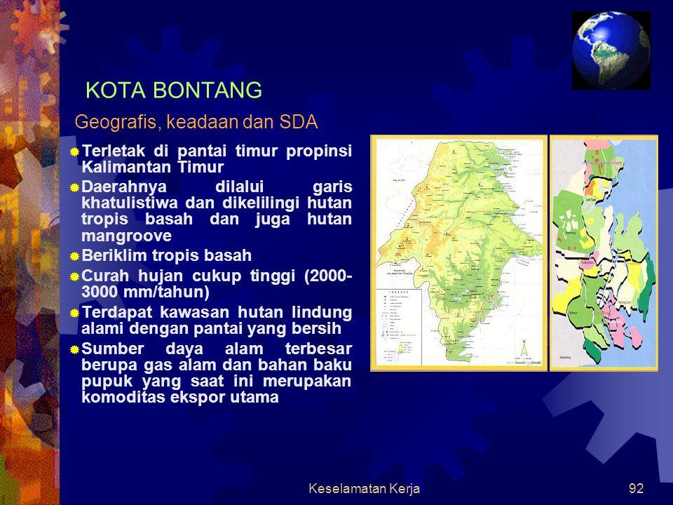 KOTA BONTANG Geografis, keadaan dan SDA