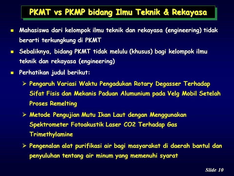 PKMT vs PKMP bidang Ilmu Teknik & Rekayasa