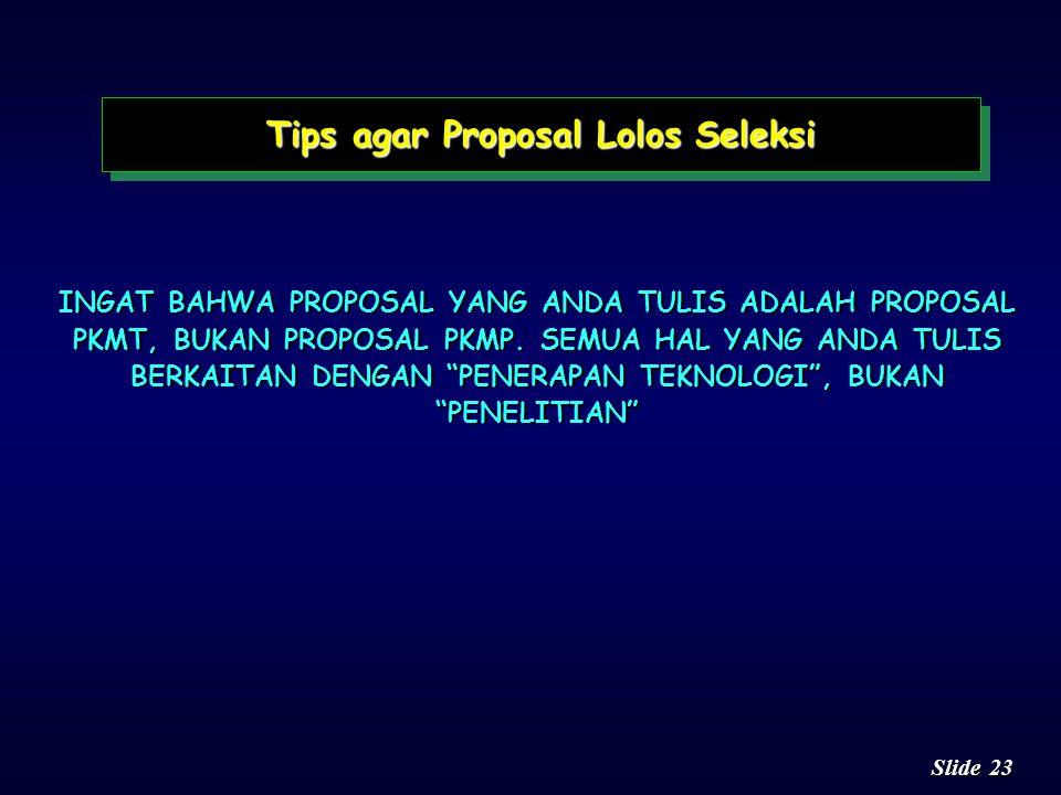 Tips agar Proposal Lolos Seleksi
