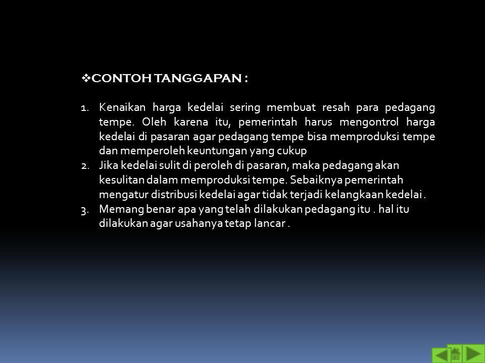 CONTOH TANGGAPAN :