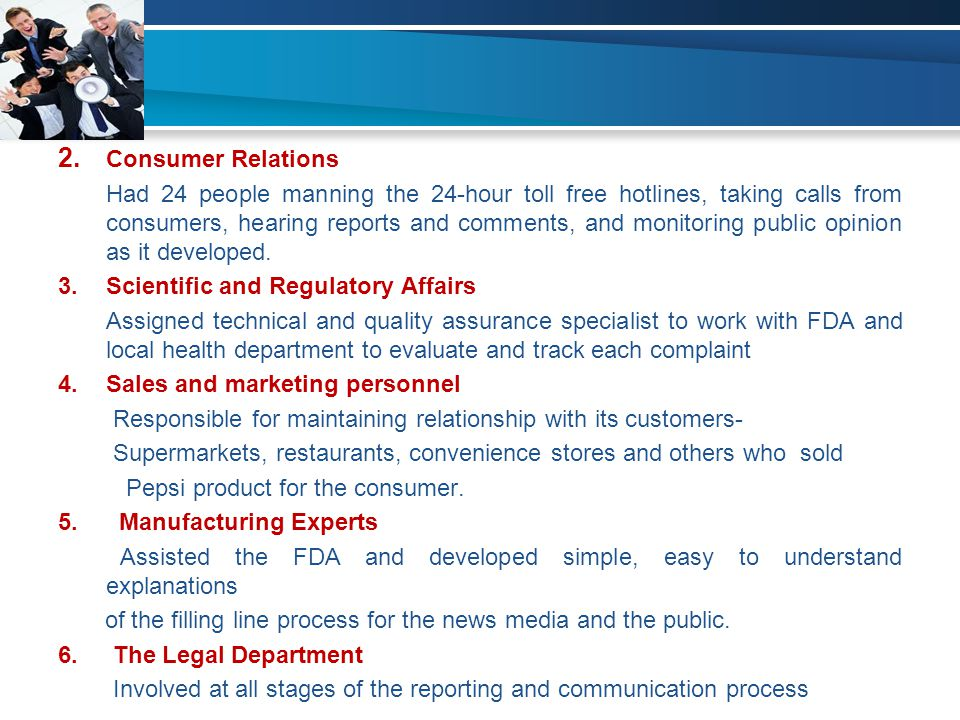 2. Consumer Relations
