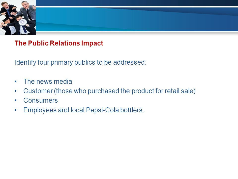The Public Relations Impact
