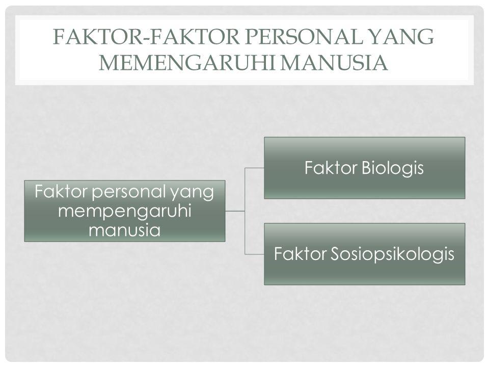 Faktor-faktor personal yang memengaruhi manusia