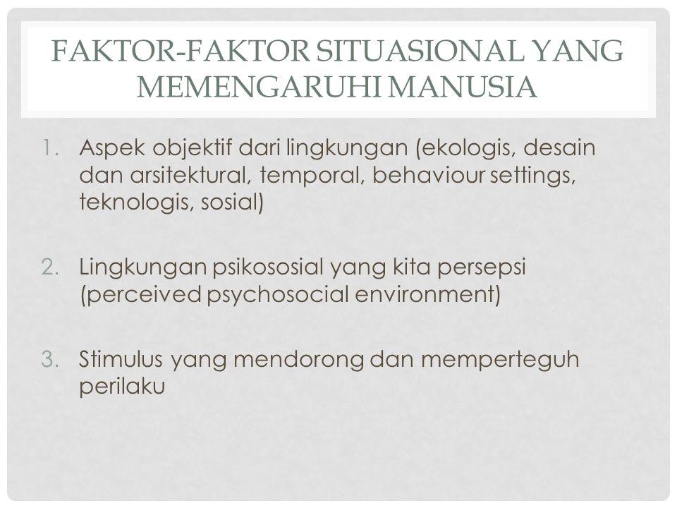 Faktor-faktor situasional yang memengaruhi manusia