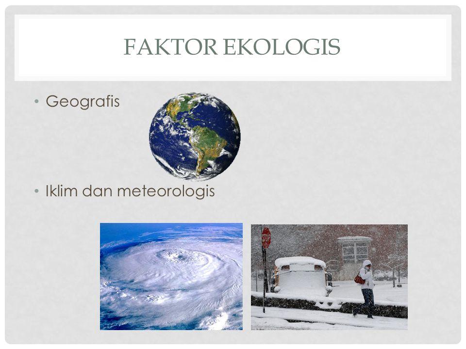 Faktor ekologis Geografis Iklim dan meteorologis