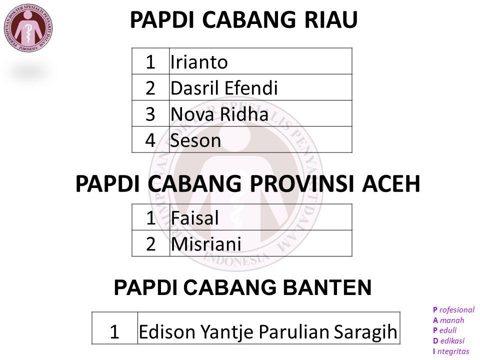 PAPDI CABANG PROVINSI ACEH
