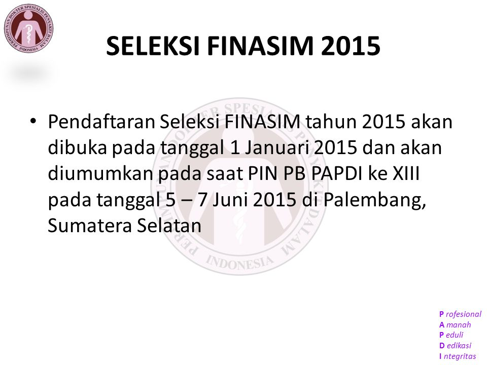 SELEKSI FINASIM 2015