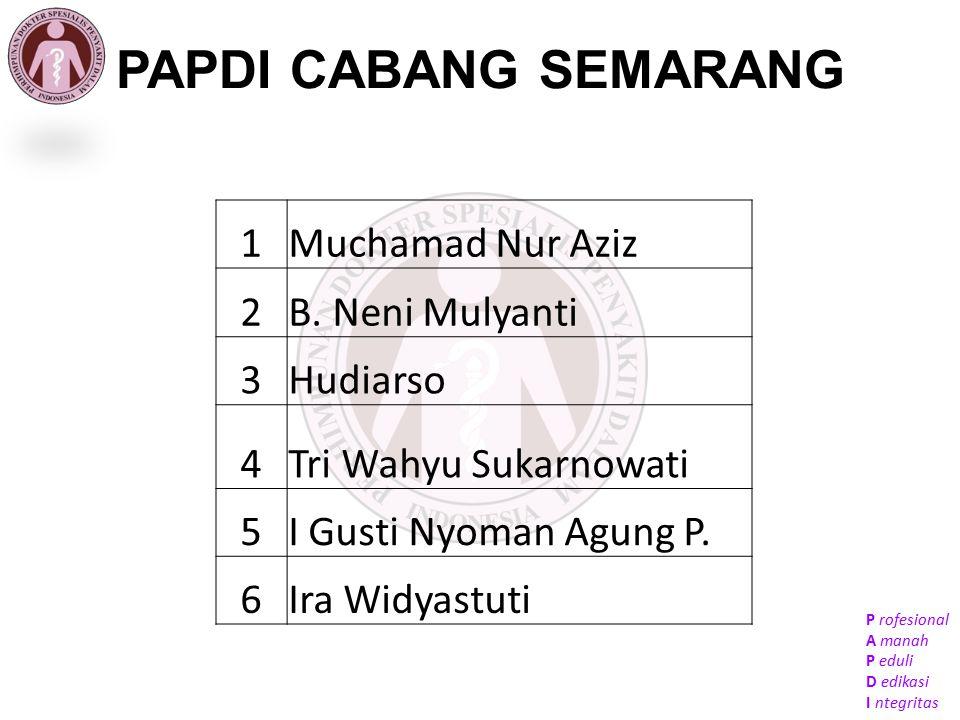 PAPDI CABANG SEMARANG 1 Muchamad Nur Aziz 2 B. Neni Mulyanti 3