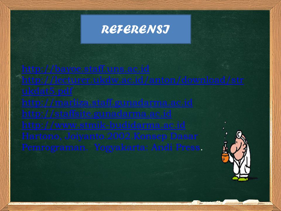 REFERENSI http://bayoe.staff.uns.ac.id