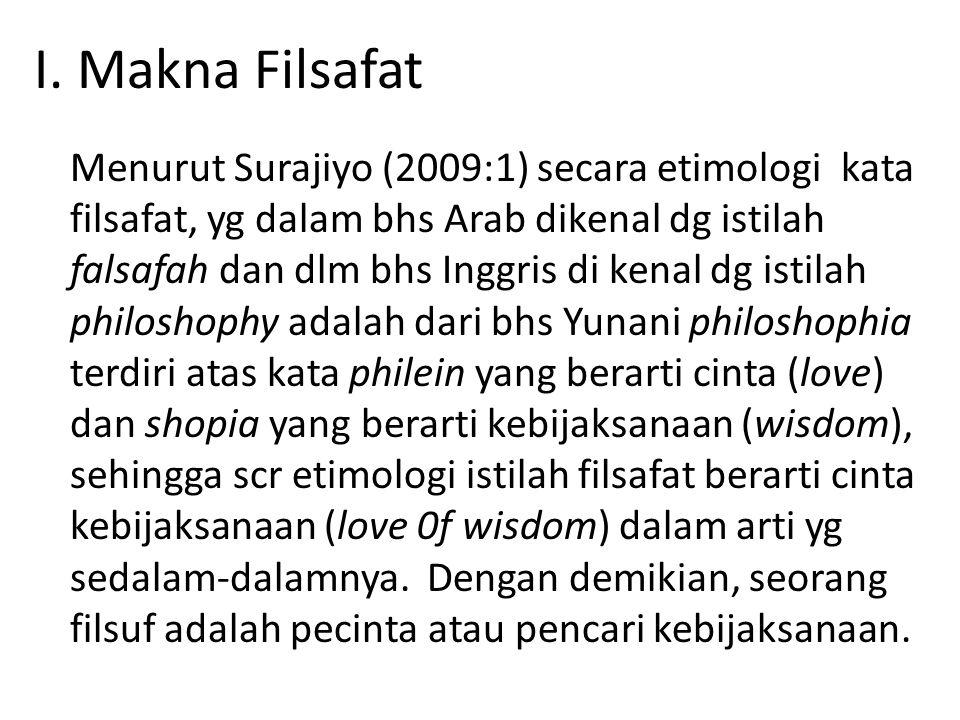 I. Makna Filsafat