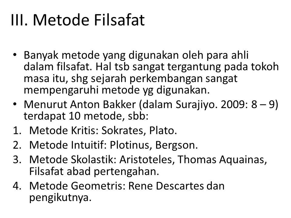 III. Metode Filsafat