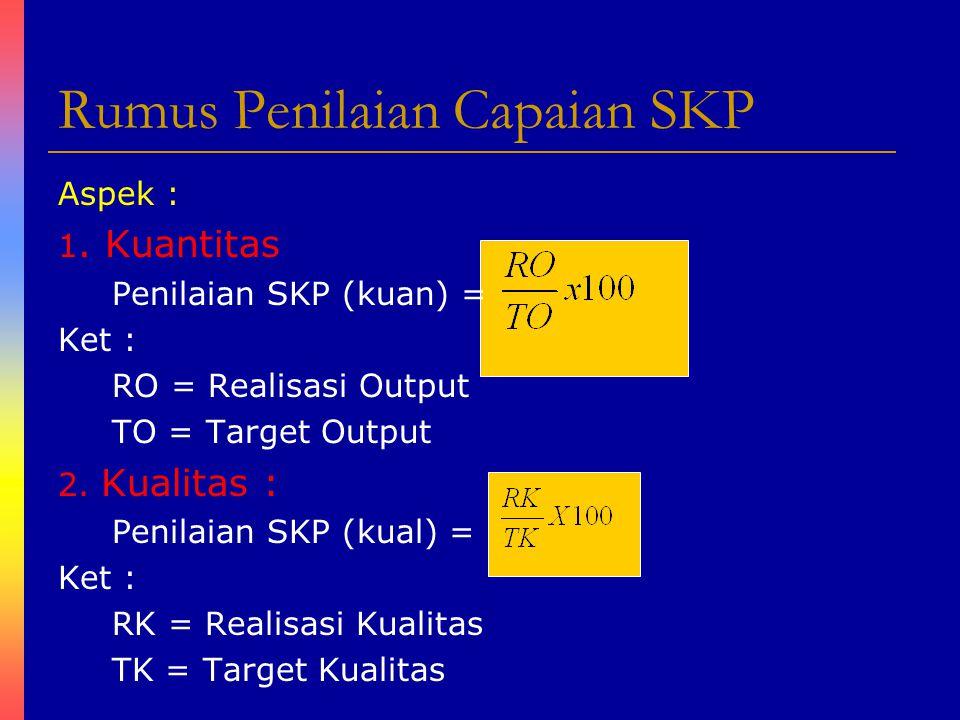Rumus Penilaian Capaian SKP