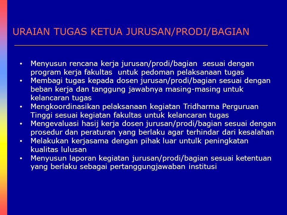 URAIAN TUGAS KETUA JURUSAN/PRODI/BAGIAN