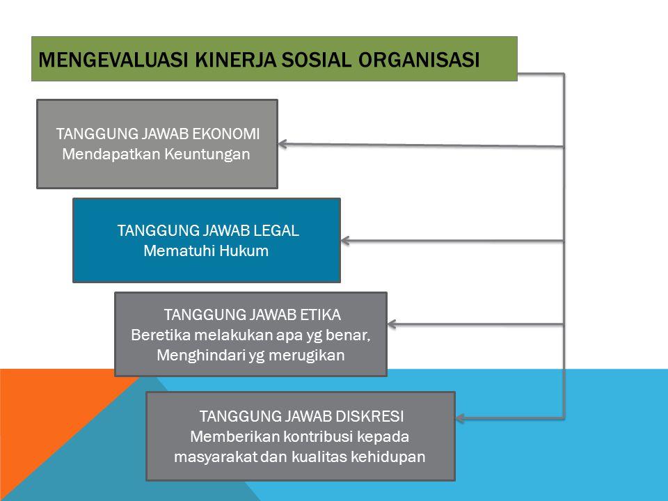 mENGEVALUASI kinerja sosial ORGANISASI