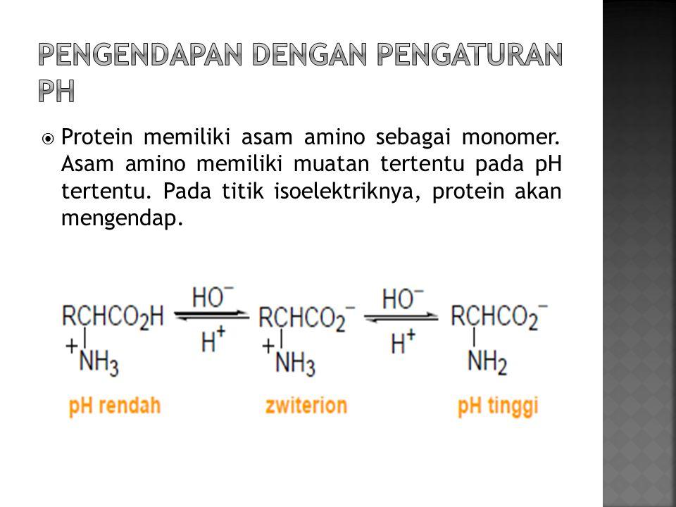 Pengendapan dengan pengaturan pH