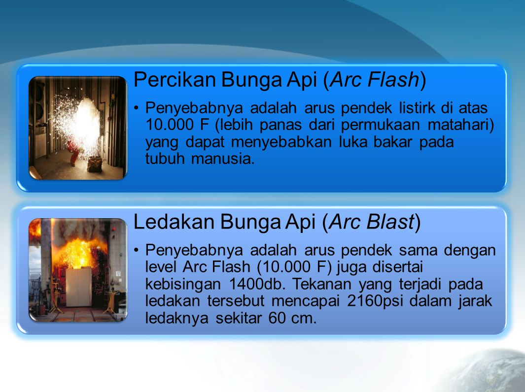 Percikan Bunga Api (Arc Flash)