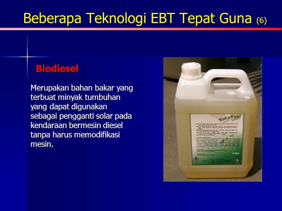 Beberapa Teknologi EBT Tepat Guna (6)