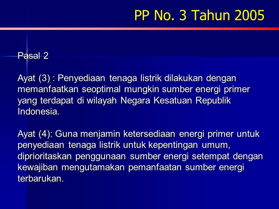 PP No. 3 Tahun 2005 Pasal 2.