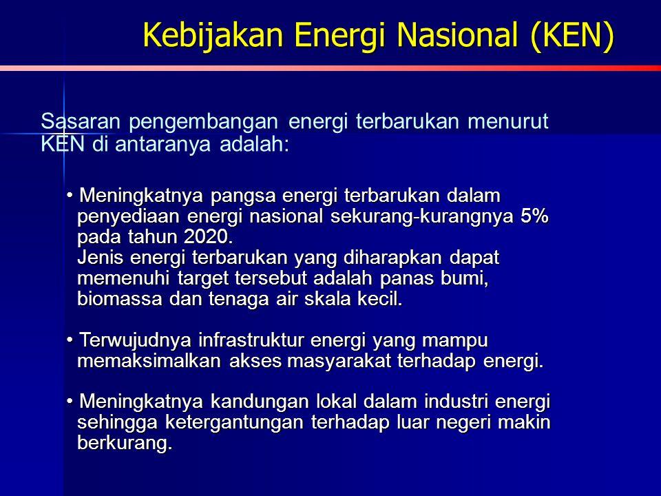Kebijakan Energi Nasional (KEN)