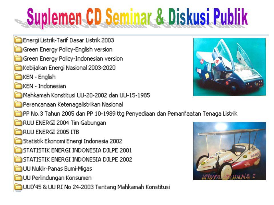 Suplemen CD Seminar & Diskusi Publik