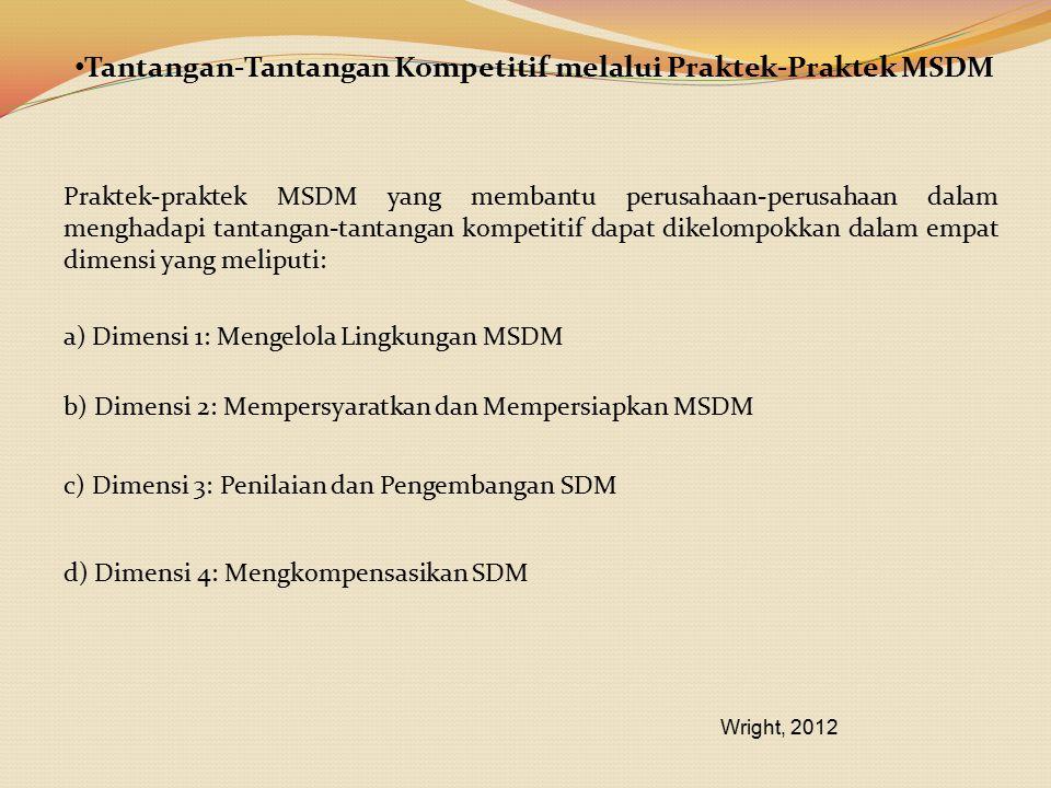 Tantangan-Tantangan Kompetitif melalui Praktek-Praktek MSDM