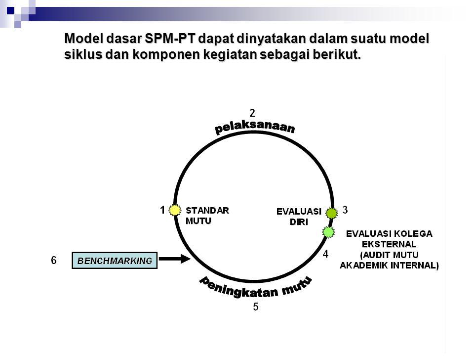 Model dasar SPM-PT dapat dinyatakan dalam suatu model siklus dan komponen kegiatan sebagai berikut.