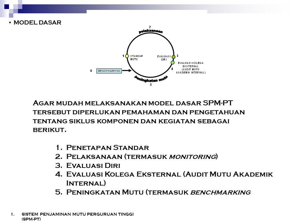 Pelaksanaan (termasuk monitoring) Evaluasi Diri