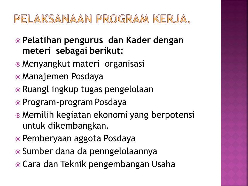 Pelaksanaan Program Kerja.