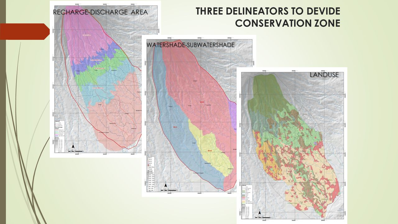 THREE DELINEATORS TO DEVIDE CONSERVATION ZONE