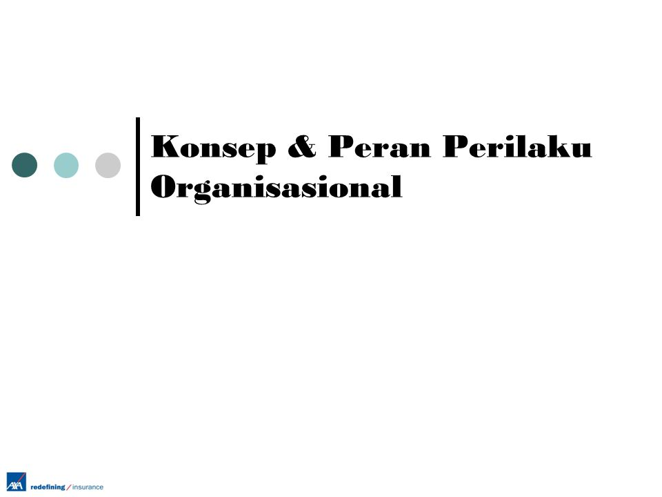 Konsep & Peran Perilaku Organisasional