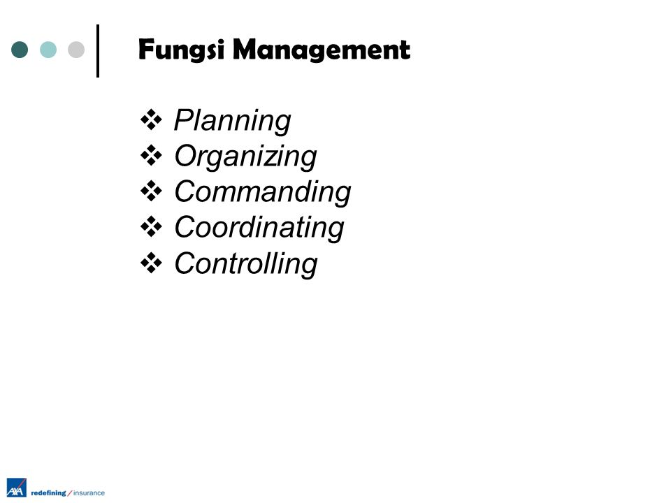 Fungsi Management Planning Organizing Commanding Coordinating Controlling