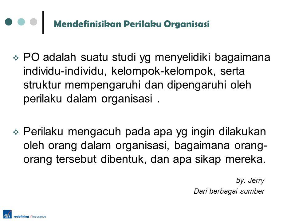Mendefinisikan Perilaku Organisasi