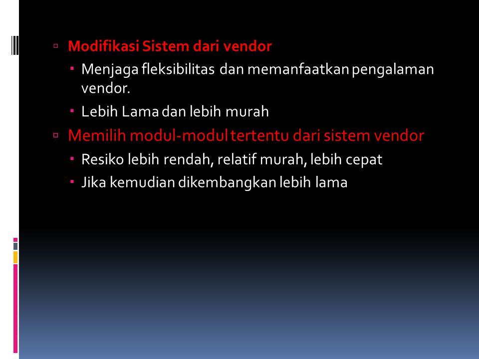 Memilih modul-modul tertentu dari sistem vendor