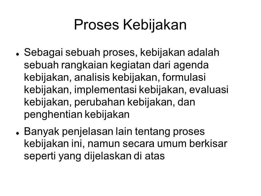 Proses Kebijakan