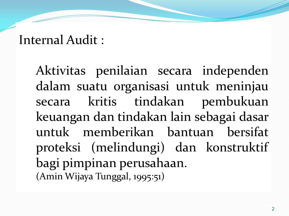 Internal Audit :