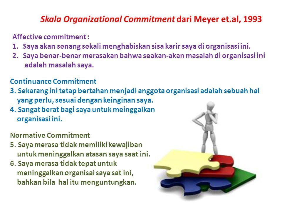 Skala Organizational Commitment dari Meyer et.al, 1993