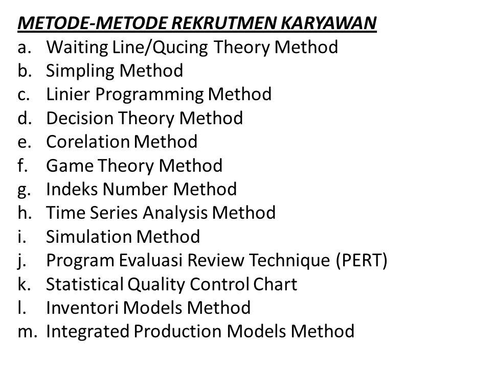METODE-METODE REKRUTMEN KARYAWAN