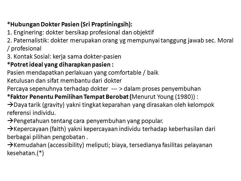 Hubungan Dokter Pasien (Sri Praptiningsih): 1