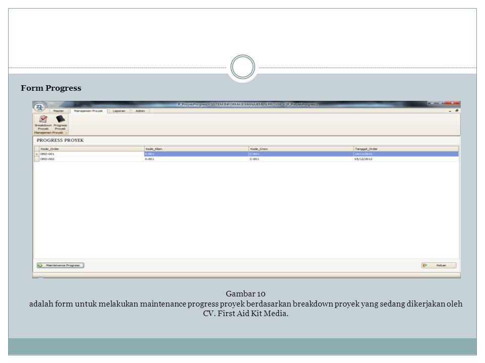 Form Progress Gambar 10.