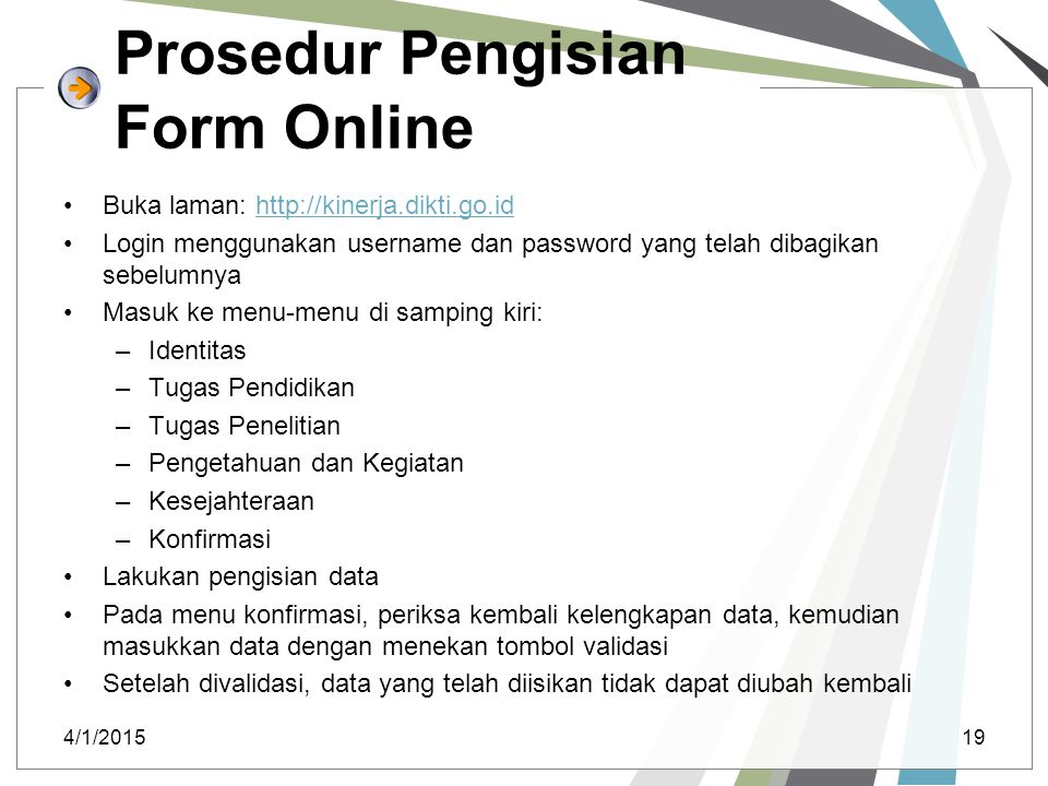 Prosedur Pengisian Form Online