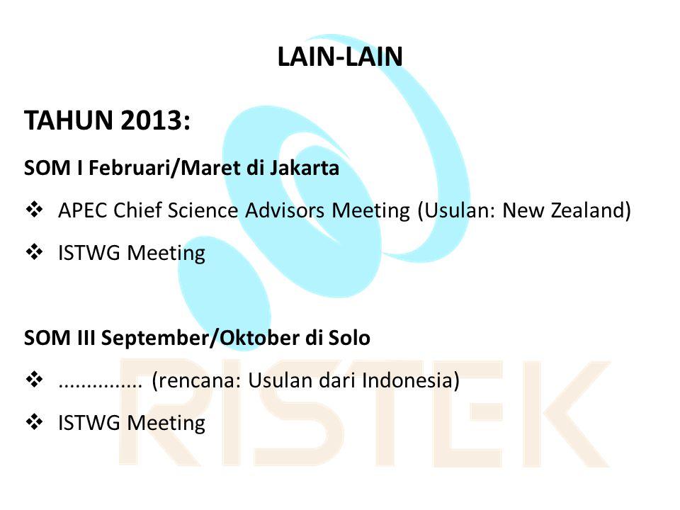 LAIN-LAIN TAHUN 2013: SOM I Februari/Maret di Jakarta